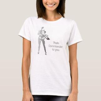 T-shirt C'est commandant à vous