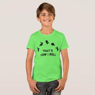 T-shirt C'est comment je roule l'acclamation de Parkour de