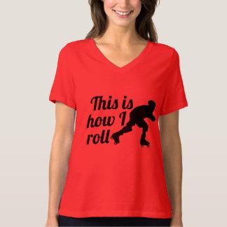 T-shirt C'est comment je roule, patineur de Derby de