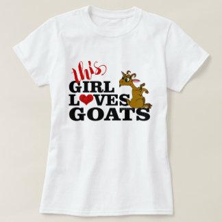 T-shirt Cette fille aime des chèvres reposant la chèvre de