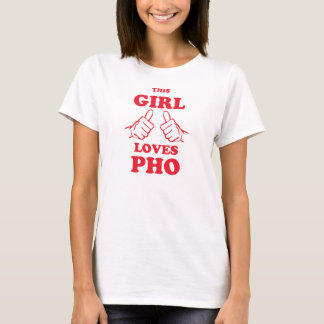 T-shirt Cette fille aime Pho