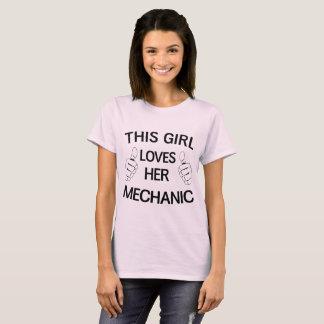 T-shirt Cette fille aime son mécanicien
