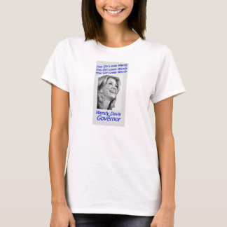 T-shirt Cette fille aime Wendy