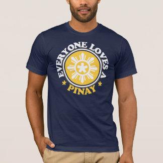 T-shirt Chacun aime un Pinay - jaune