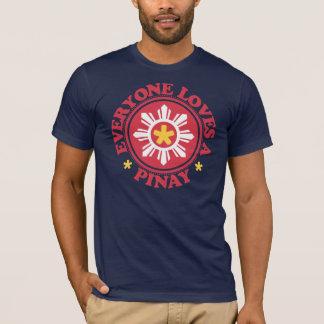 T-shirt Chacun aime un Pinay - rouge