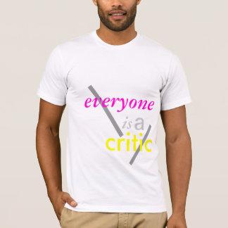 T-shirt chacun est un critique