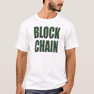 T-shirt Chaîne de bloc binaire, une base de données