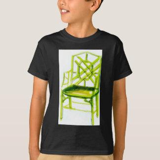 T-shirt chaise de chinoiserie pour la carte d'endroit
