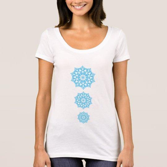 T-Shirt Chakras Bleu fond clair psychédélique
