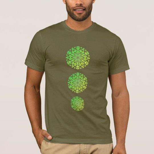 T-Shirt Chakras Mandala Psychédélique Vert