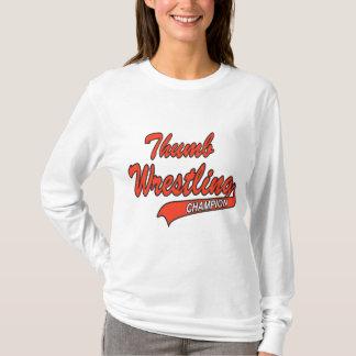 T-shirt Champion de lutte du pouce des femmes