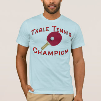 T-shirt Champion de ping-pong