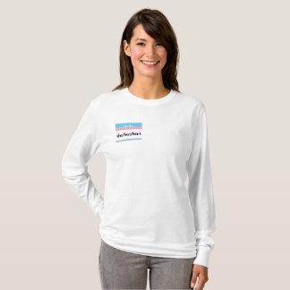 T-shirt Chandail femelle de pronoms