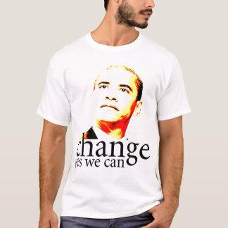 T-shirt Changement de Barack Obama oui nous pouvons
