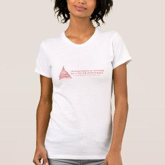 T-shirt Changez les femmes du congrès rouges sur le blanc