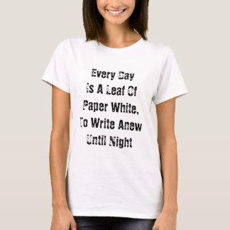 T-shirt Chaque jour est une feuille
