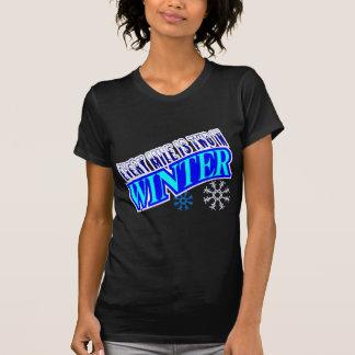T-shirt Chaque mille est deux en hiver