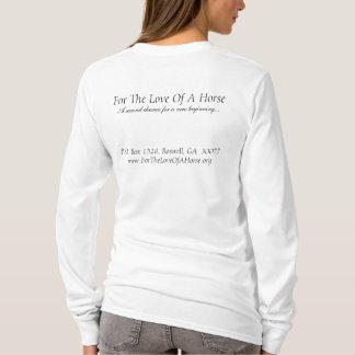 T-shirt Charbon de bois de Gracie signé, pour l'amour d'un