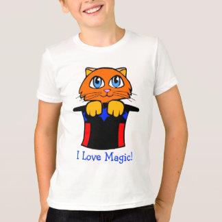 T-shirt Chat dans la bande dessinée magique de casquette