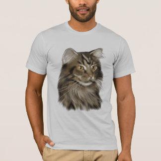 T-shirt Chat de ragondin tigré noir du Maine