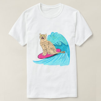 T-shirt Chat de surfer