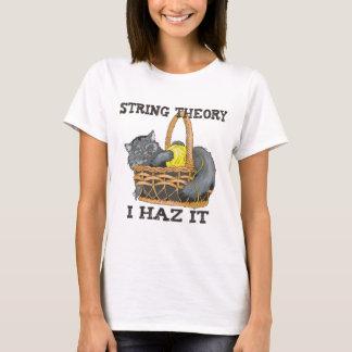 T-shirt Chat de théorie de ficelle de physique