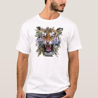 T-shirt Chat effrayant de tigre fâché