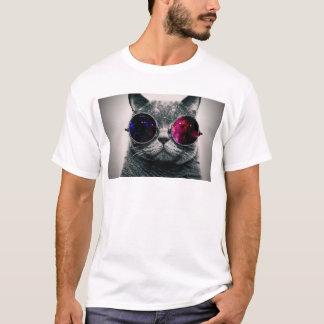 T-shirt Chat frais de l'espace avec la manière laiteuse en