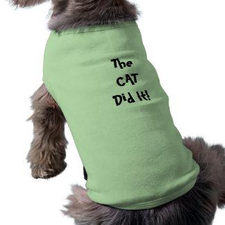 T-shirt Chat il a poursuivi la chemise