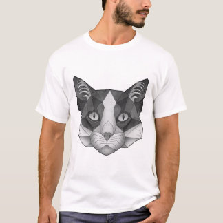 T-shirt chat Noir-blanc