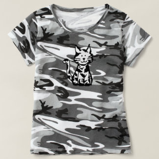 T-shirt Chat noir et blanc de Kitty