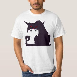 T-shirt Chat noir grincheux