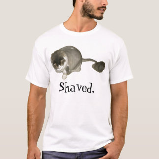 T-shirt Chat rasé