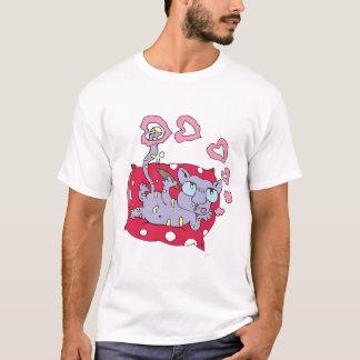 T-shirt Chat tigré de flirt