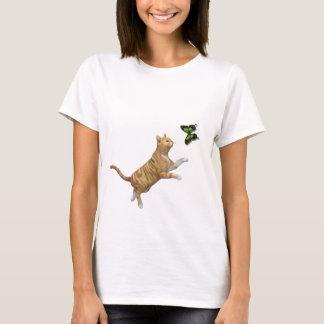 T-shirt Chat tigré rouge