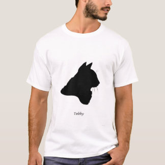 T-shirt Chat tigré - silhouette noire