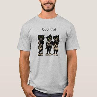 T-shirt Chats frais de cru de noir de musicien