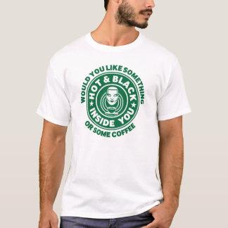T-shirt Chaud et noir à l'intérieur vous ou du café