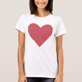 T-shirt chaud tricoté de coeur