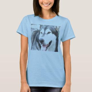 T-shirt chaussures en toile pour femme Alaskan Malamutte