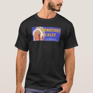 T-shirt Chef de Wenatchee - étiquette vintage de caisse de