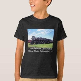 T-shirt Chemin de fer locomotif #757 de plat de nickel de