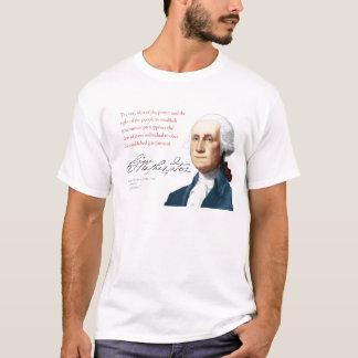 """T-shirt Chemise #16 """"obéissance """" de George Washington"""