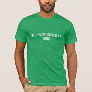 T-shirt Chemise 2013 de jour de Patricks de saint