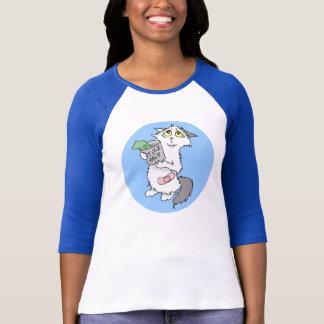 T-shirt Chemise 3/4-sleeve de chat de Donashun (aucun