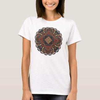 T-shirt Chemise acrylique de frontière de dentelle de