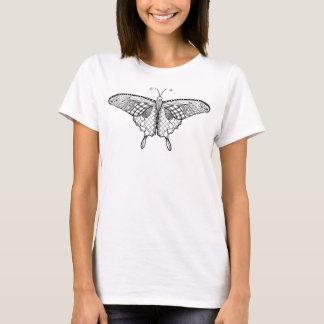 T-shirt Chemise adulte de papillon de coloration