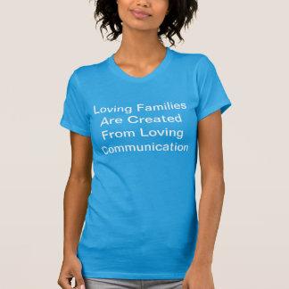 T-shirt Chemise affectueuse de dames de communication