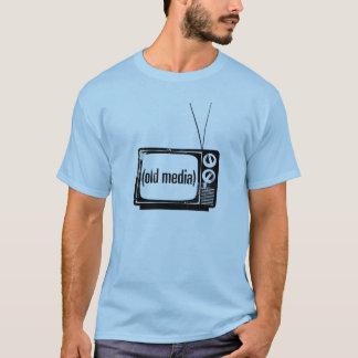 T-shirt Chemise bleu-clair de vieux médias