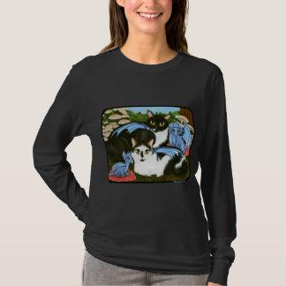 T-shirt Chemise bleue d'imaginaire de champignons de